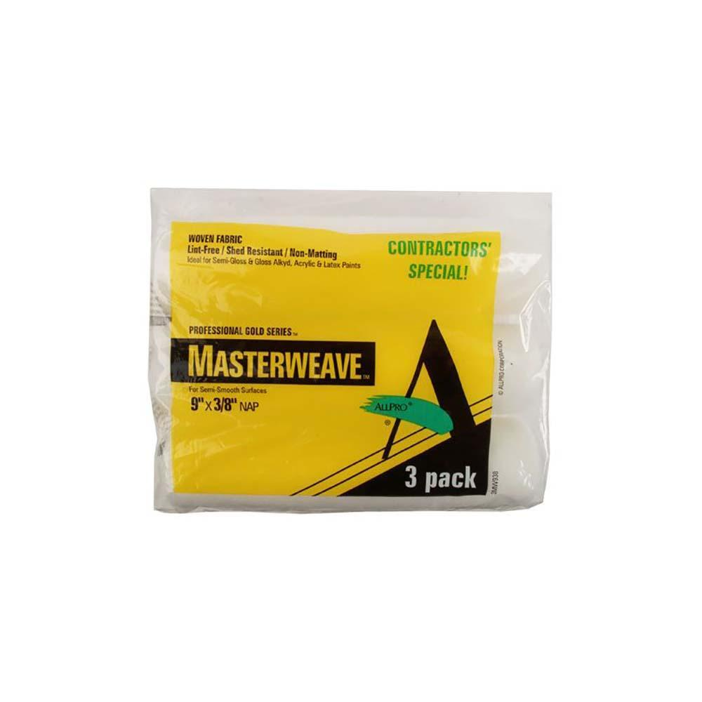 "Allpro masterweave 3 pack 9"" roller covers, available at Regal Paint Centers in MD."