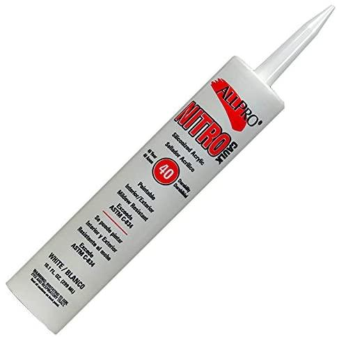 Nitro Siliconized Acrylic Caulk White, available at Regal Paint Centers in MD.
