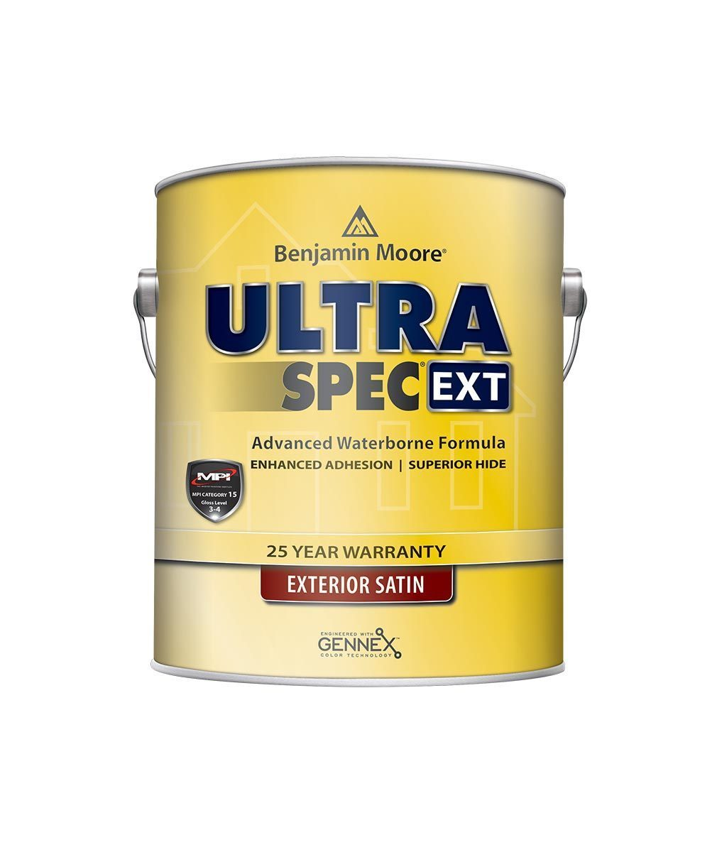 Benjamin Moore Ultra Spec EXT exterior paint in satin finish available at Regal Paint Centers