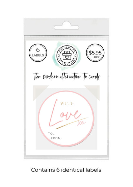 LOVE PINK - SET OF 6