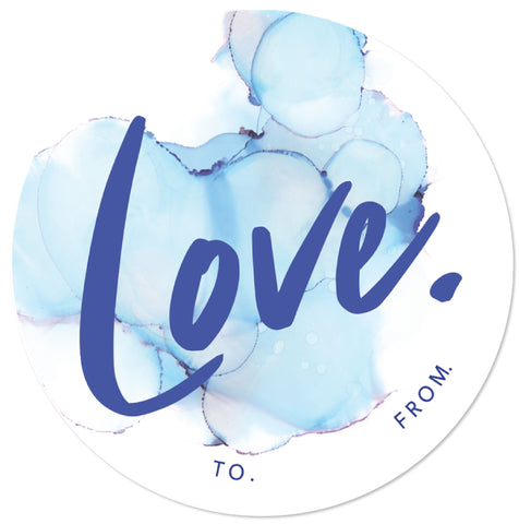 LOVE BLUE - SET OF 6