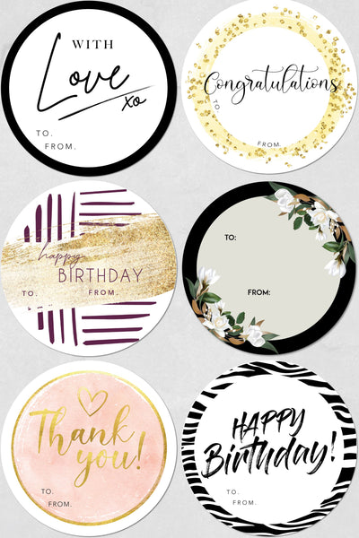MIXED GREETING PACK - 6 LABELS