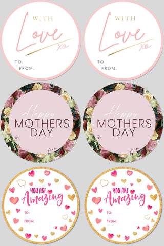 MIXED MOTHERS DAY - 6 LABELS