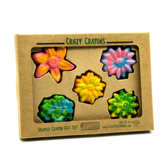 Recycled Flower Power Crayons