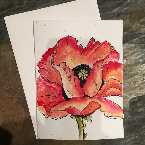 Plantable Cards: Flower Collection-Handpainted