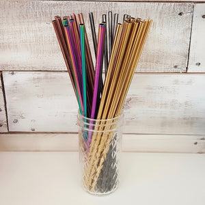 "Straws-10.5"" Stainless Steel in 5 colors"