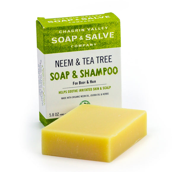 Shampoo & Body Bar for Oily Hair- Neem & Tea Tree