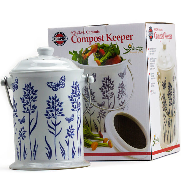 Ceramic Counter-Top Compost Collector