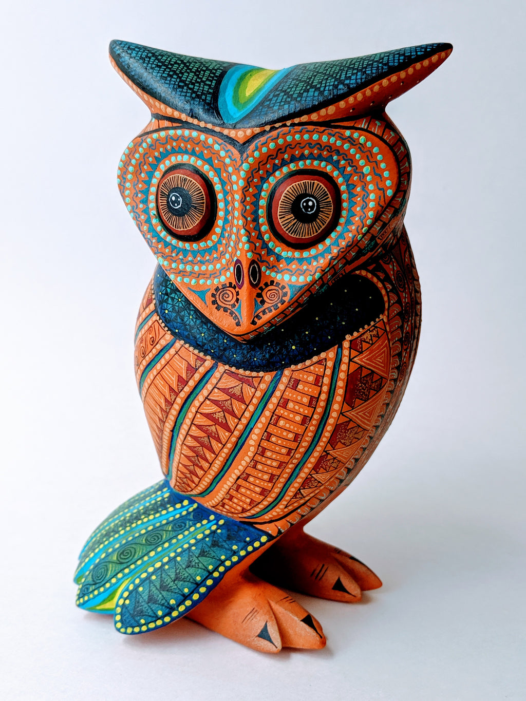 Handmade Oaxacan Alebrije Buho - Owl by Nestor and Leticia Melchor