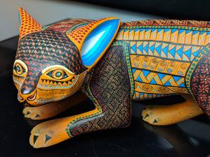 Handmade Oaxacan Alebrije Fox by Nestor and Leticia Melchor