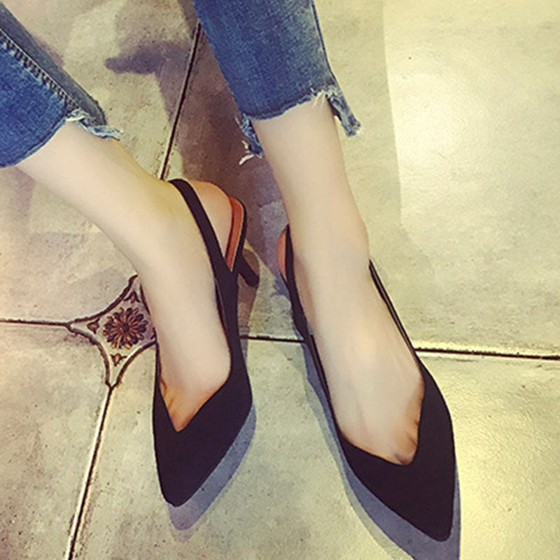 New work Heart Cutting Suede Switch Sandals Almond To