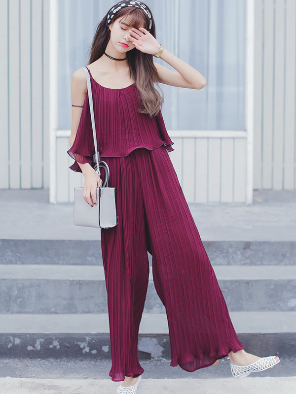 Fashionable fashion cute little type all-in-one pants dress