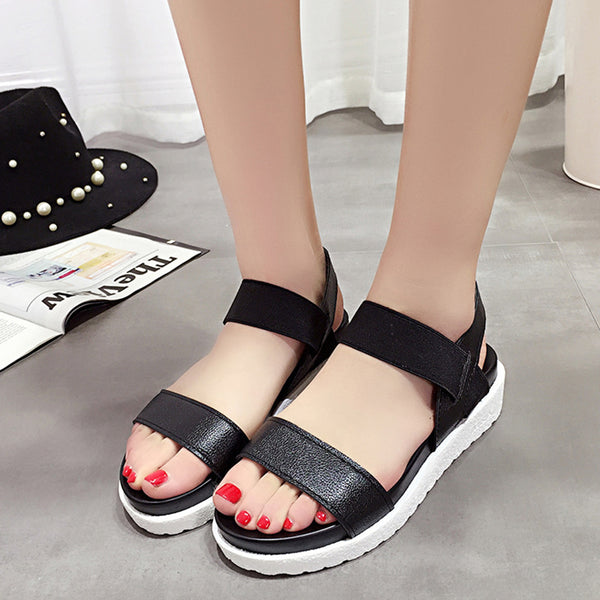 Switching sandals Ladies sandals black white silver