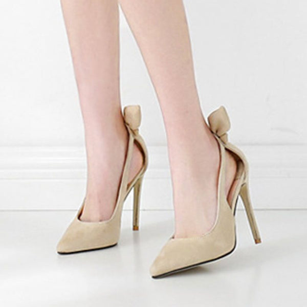Slip-On Pointed Toe Hollow Stiletto Heel 11cm Low-Cut Upper Thin Shoes