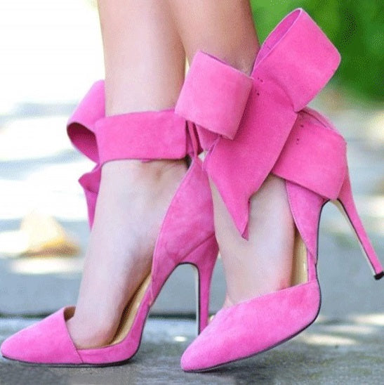 Stiletto Heel Velcro Pointed Toe Casual Plain Sandals
