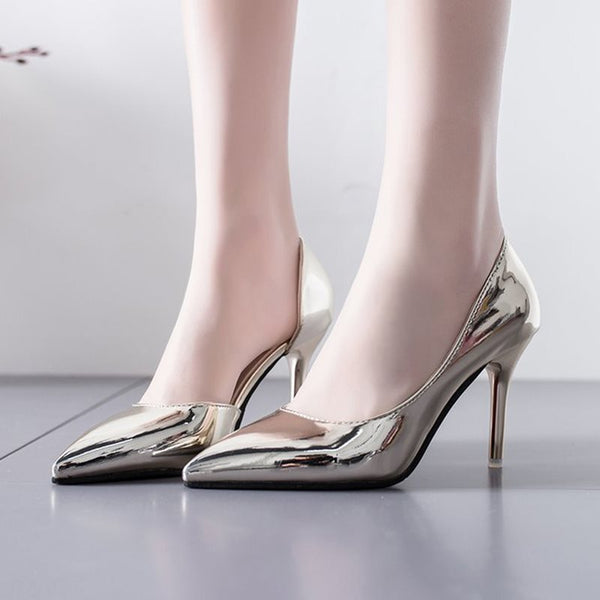 Pointed Toe Stiletto Heel Slip-On Casual Plain Thin Shoes