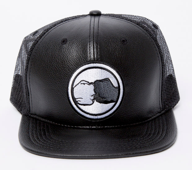 Vegan Mesh Leather Trucker Hat