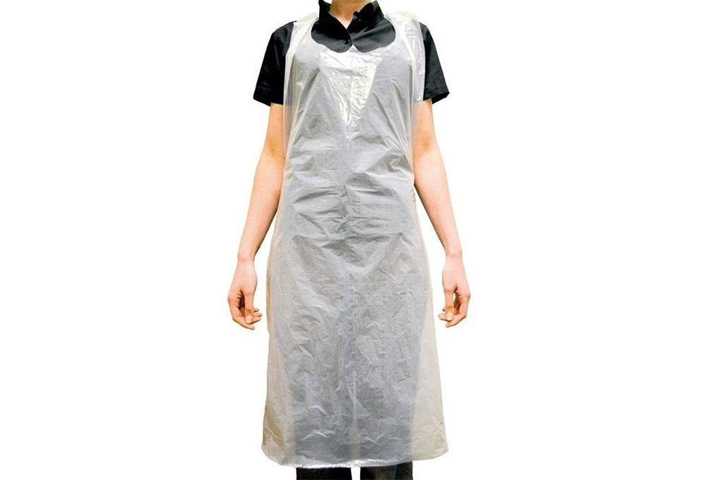 100 x Disposable PE Apron, White