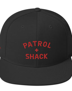 Patrol Shack Red Snapback Hat