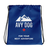 Blue Avy Dog Drawstring bag