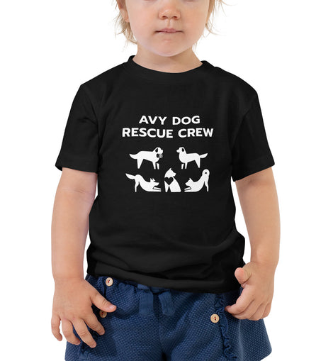 Avy Dog Rescue Toddler White Short Sleeve Tee