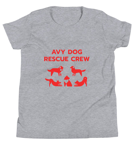 AvyDog Rescue Crew Patro Red Youth Short Sleeve T-Shirt