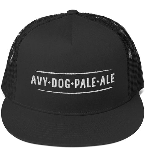 Avy Dog White Trucker Cap