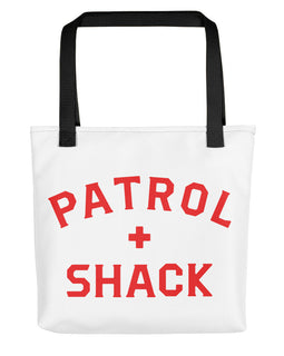 Red Patrol + Shack Tote bag