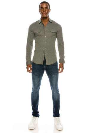MEN'S FASHION BUTTON SHIRTS.