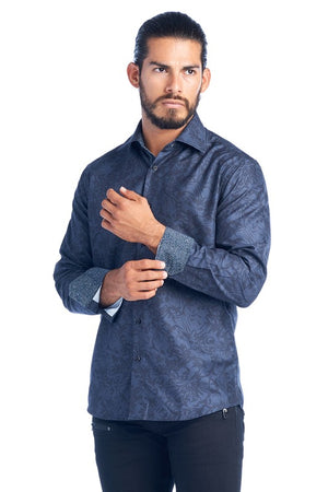 MEN'S CHARCOAL ELEGANT FASHION SHIRT
