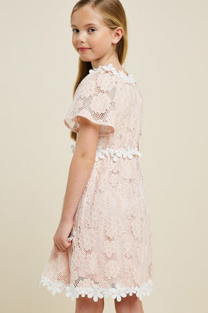 Kids Floral Lace Babydoll Dress