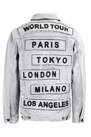Men's World Tour Colored Denim Jacket
