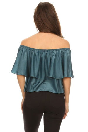 Relaxed Style Ruffled Top