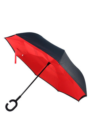 Solid Color Double Layer Inverted Umbrella
