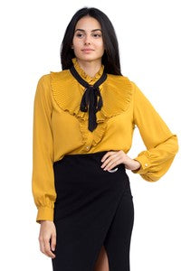 Women's Woven Long Sleeve Blouse