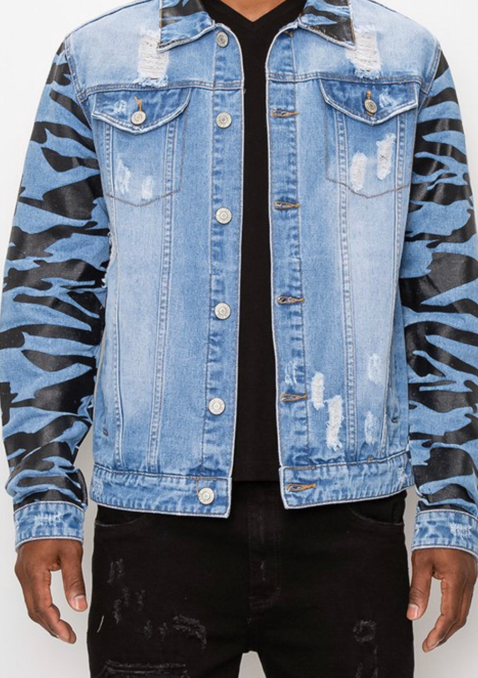 Men's Tiger Camo Denim Jacket
