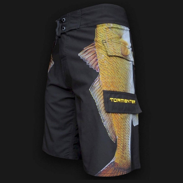 "4x4 Board Shorts - ""Side To"" - Redfish Side To - Performance Fishing Board Shorts Tormenter Ocean"