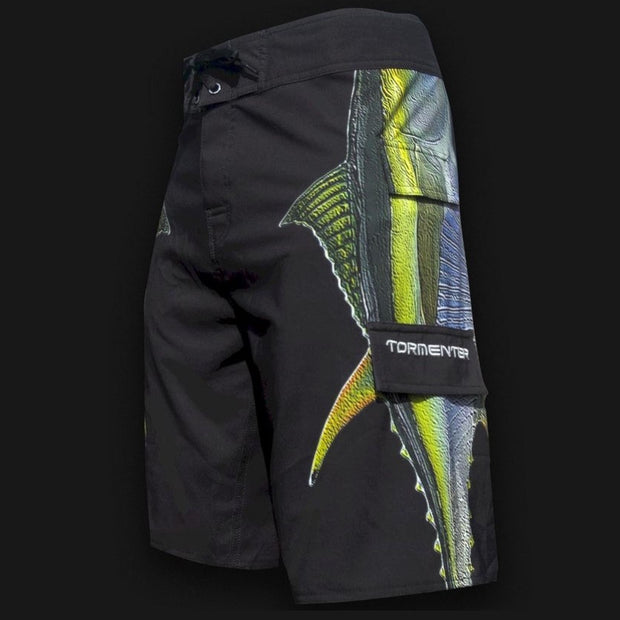 "4x4 Board Shorts - ""Side To"" - Tuna Side To - Performance Fishing Board Shorts Tormentor Ocean"