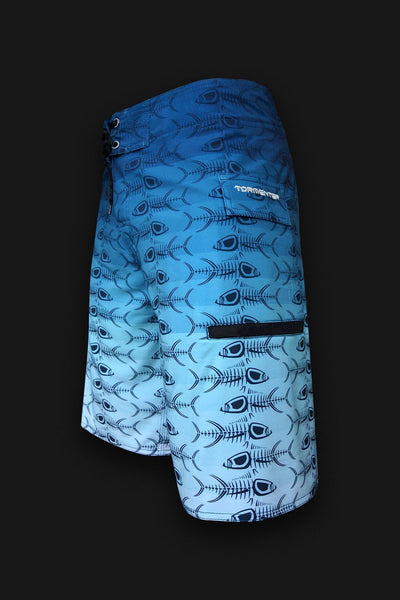 4x4  - 8 Way Stretch Board Shorts - Blue Fade - Tormenter Ocean Fishing Gear Apparel Boating SPF Surfing Watersports