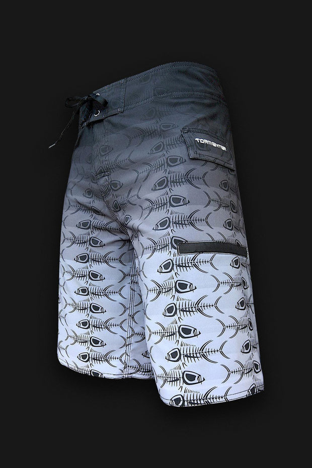 4x4  - 8 Way Stretch Board Shorts - Gray Fade - Tormenter Ocean Fishing Gear Apparel Boating SPF Surfing Watersports