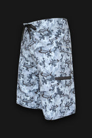 4x4  - 8 Way Stretch Board Shorts - Marlin Camo Gray - Tormenter Ocean Fishing Gear Apparel Boating SPF Surfing Watersports