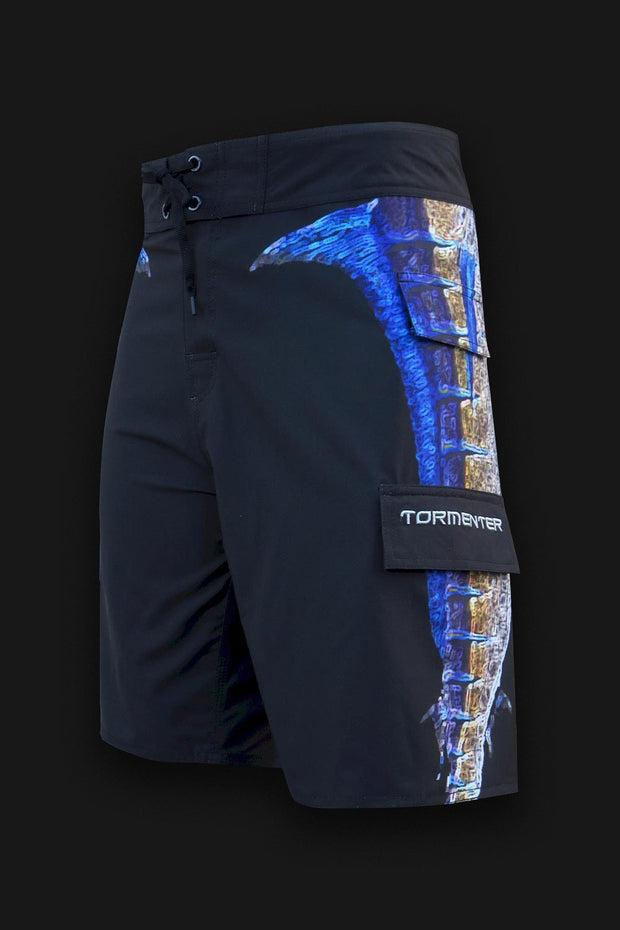"4x4 Board Shorts - ""Side To"" - Marlin - Tormenter Ocean Fishing Gear Apparel Boating SPF Surfing Watersports"