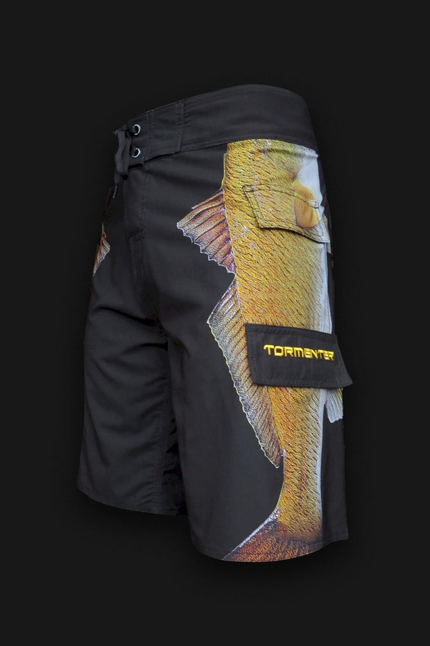 "4x4 Board Shorts - ""Side To"" - Redfish - Tormenter Ocean Fishing Gear Apparel Boating SPF Surfing Watersports"