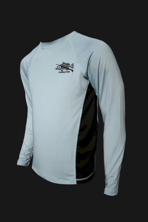 Grouper Light Blue Performance Fishing Shirt SPF 50