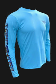 Key Largo Series - Electrified Tuna Long Sleeve Performance Shirt Men's SPF Ocean Fishing Tops Tormenter Ocean
