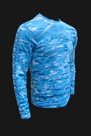 Key Largo Series Hydraflek Blue Longsleeve Performance Shirt