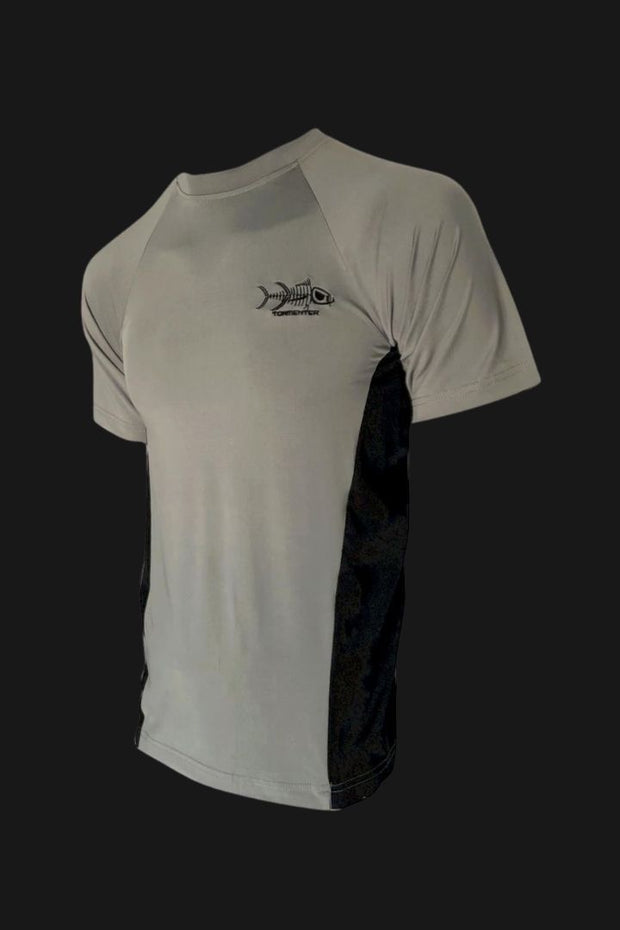 Men's Graphite Short Sleeve Sports Shirt Men's SPF Ocean Fishing Tops Tormenter Ocean