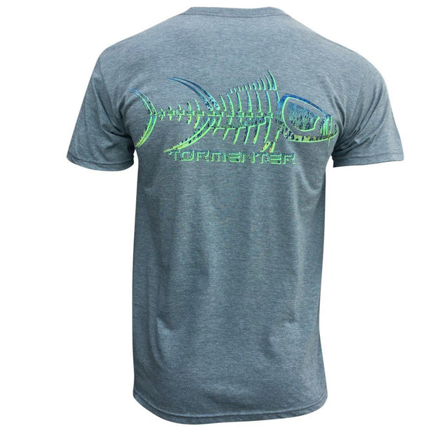 Mahi Skin Gray Men's Fishing T-Shirt Fishing T-Shirts Tormenter Ocean
