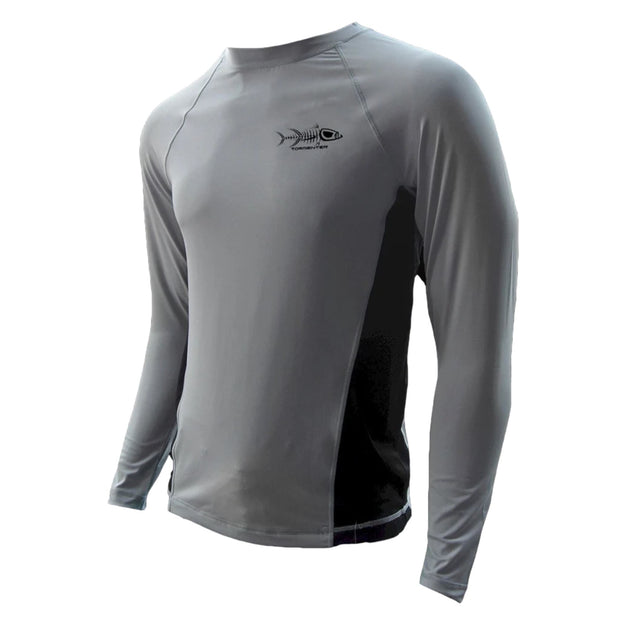Raging Tuna Side Vented Performance Fishing Shirt - Graphite Men's SPF Ocean Fishing Tops Tormenter Ocean