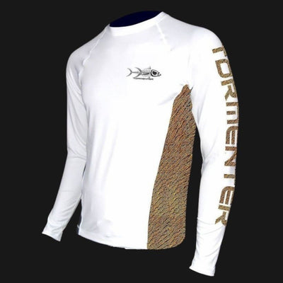 Redfish Side Venting Fishing Shirt Men's SPF Ocean Fishing Tops Tormentor Ocean S